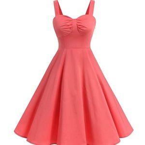 Dresses & Skirts - Coral flare dress